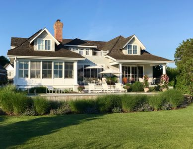 Photo for Sag Harbor Village Waterfront Home with Dock and Pool