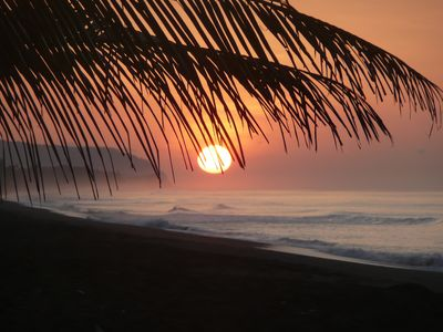 Photo for Ocean front beach home, lagoon sunrises, Corcovado sunsets, wildlife, kayaks