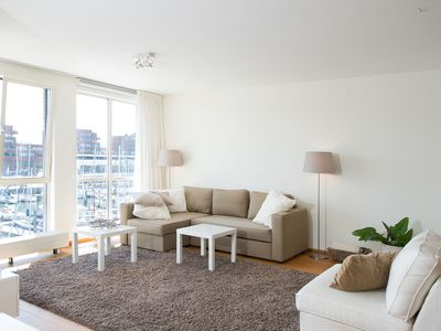 Photo for Modern 2-person apartment with a view of the Scheveningen marina