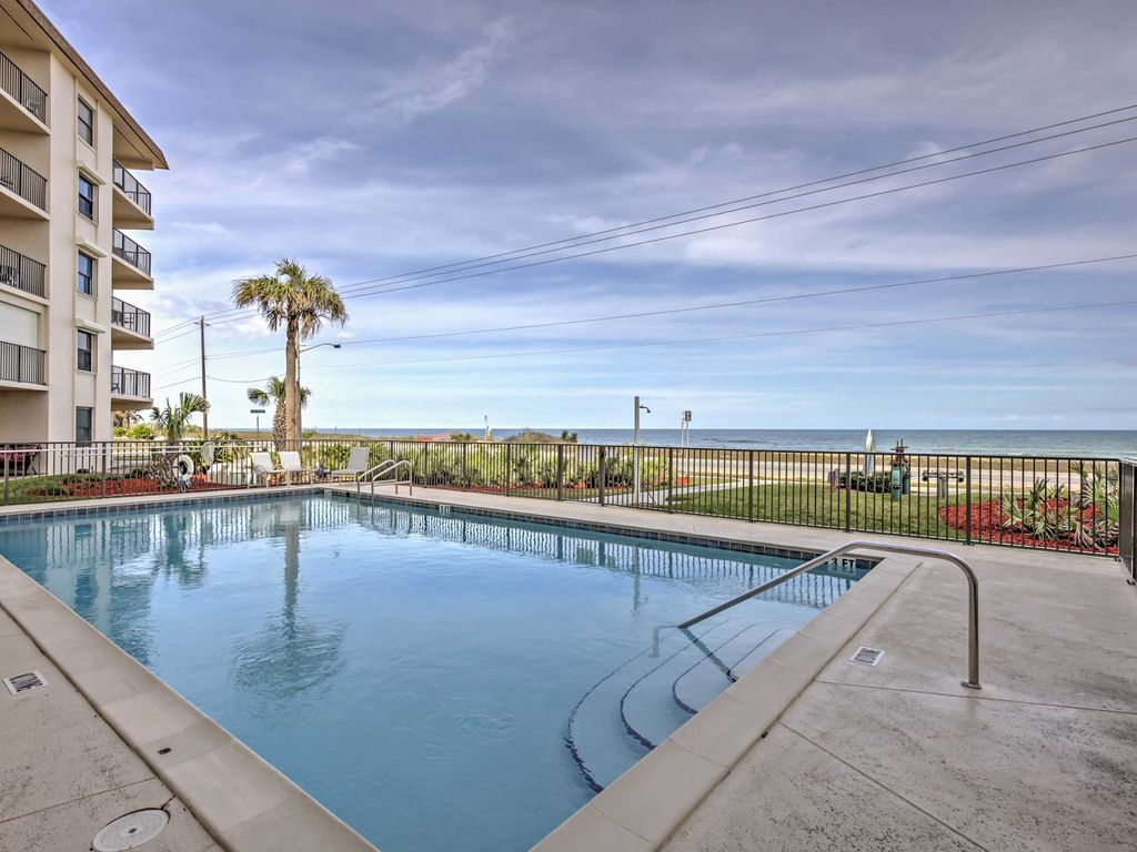 Oceanfront Ormond Beach Condo W Balcony Pool