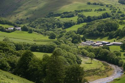 Ystwyth Valley with Welsh Hideaways on the left of the picture