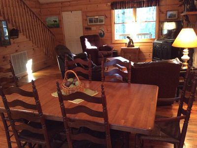 Photo for Beautiful Cabin in the Woods in Townsend! WiFi, Clean, Comfortable= Evergreen!
