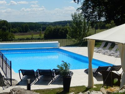 Photo for Gites at Bouriac for two with heated pool and stunning views in rural location