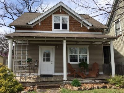 Photo for Cozy, bungalow cottage, minutes from historic downtown and across from park