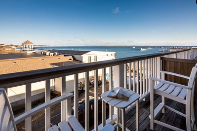 Enjoy views of the bay and MacMillan pier from your private balcony.