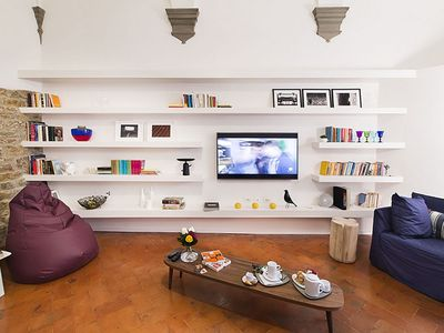 Photo for Incredible apartment in an ancient medieval tower in Florence