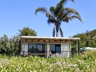 Photo for Beachside Cabin with view of Mount Pataua and Surf bar