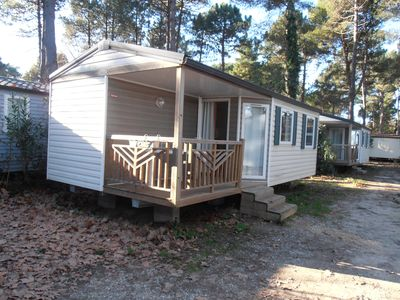 Photo for Taxo les Pins Mobile Home Air Conditioned 4 people 2 bedrooms Kitchen SdB Terrace