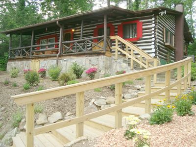 Heritage Log Cabin has authentic rustic charm with all the modern comforts!
