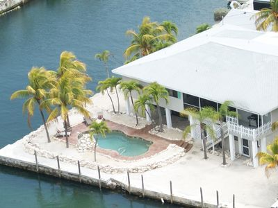 Photo for Waterfront-Sleeps 10+ - 200' Dockage, New Pool, New Jacuzzi, pool Table