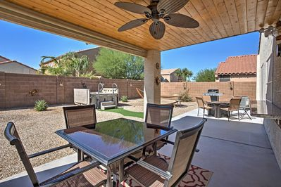 Equipped with a private yard, this home offers space to enjoy the outdoors.
