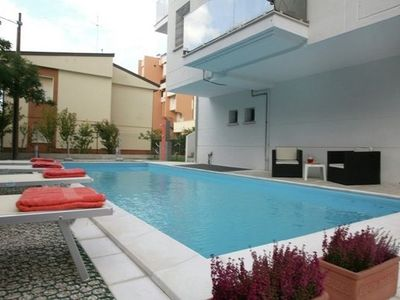 Photo for Modern Apartment on Rimini Adriatic Coast with Swimming Pool