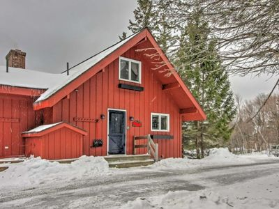 Photo for Rustic Bromley Mountain Townhouse w Wrap- Around Deck - 30 Yards From Slopes!