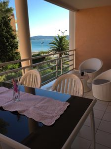 Photo for Cavalaire 2-room sea view 50m from the beach and town center balcon15 m2 Parking