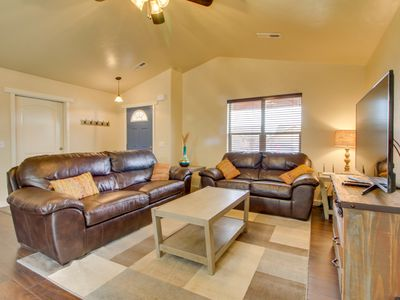 Photo for Modern home w/ great red rock views, patio & shared pool/hot tub!