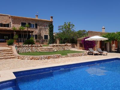 Photo for luxury finca in Mallorca with large pool and ocean view near the beach
