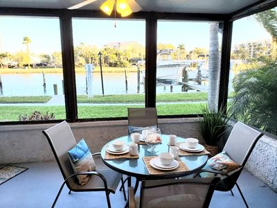 Photo for Madeira Beach Yacht Club  Waterfront Paradise!  Boat slip included!