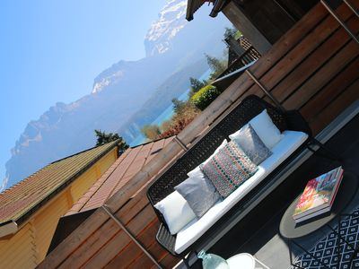 Photo for 2 TERRACES with VIEW ON LAKE - annecy home ****