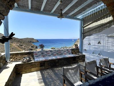 Photo for Tinos traditional Cycladic residence villa 60 meters from sea