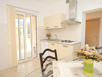 Photo for Two bedroom apartment with terrace Duga Luka (Prtlog), Labin (A-5528-c)