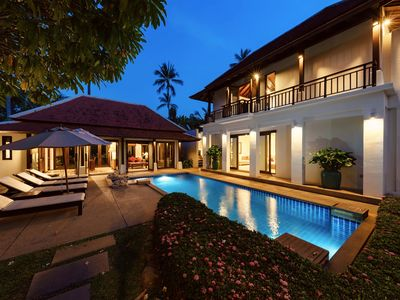 """Photo for Lovely villa """"Plumeria"""" with private pool, garden and beach access"""