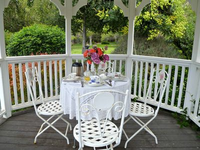 The Gazebo is perfect for tea time or a meal!