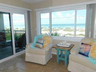 Photo for Gulf View! Walking Distance to Beach!