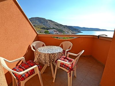 Photo for Apartment Durda  A2(2+2)  - Metajna, Island Pag, Croatia