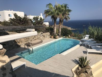 Photo for Villa in Mykonos 4 bedrooms, private swimming pool, fantastic views