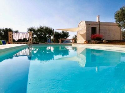 Photo for Trullo Don Mino for 10 people, spectacular trullo on 2 floors with swimming pool