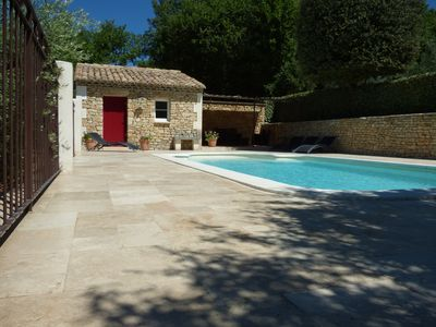 Photo for stone farmhouse 6 people with protected swimming pool in Gordes