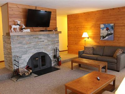 Photo for A Pleasant Trailside Vacation Home with Hot Tub, Brick Fireplace and Allows Dogs