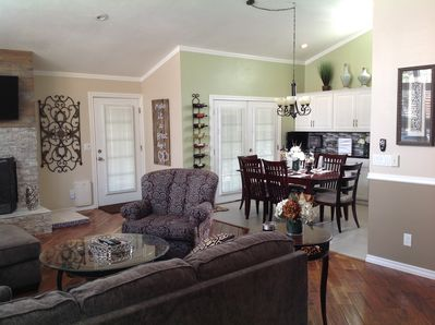 Open concept LR & kitchen with French doors, natural sunlight, AC, W/D.