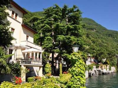 Photo for Villa Angela is located directly on the lake with a beautiful, large and very well tended garden and
