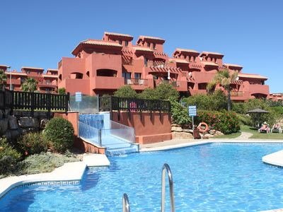 Photo for Luxury 3 bed, 3 bath duplex apartment on exclusive country club with spa complex