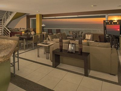 Photo for Beachfront 2-Story Penthouse Condo in Dreams Resort - restaurants, jacuzzi, wifi
