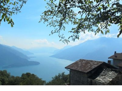 Photo for Casa Baita Zia Marianna is located on a fantastic panoramic position far above Lake Como in the haml