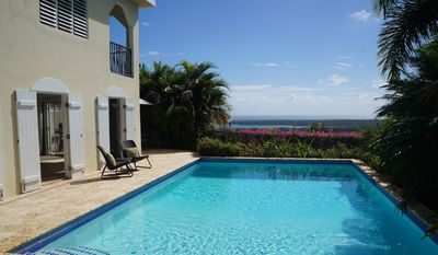Private Pool overlooks breathtaking Caribbean view
