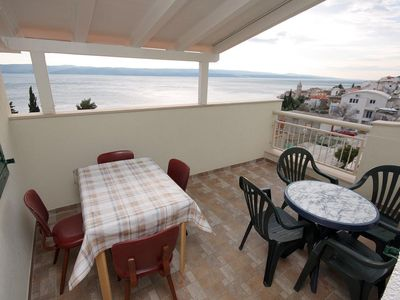 Photo for Two bedroom apartment with terrace and sea view Pisak, Omiš (A-4815-d)