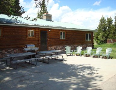 Photo for 8 miles from Yellowstone! Parking area for toys! Fireplace & gas grill!