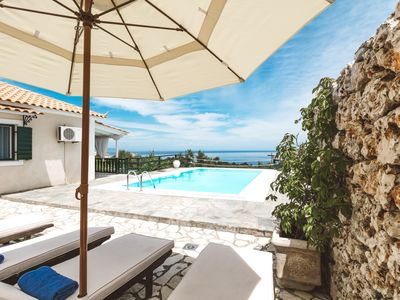 Photo for Charming Cottage with Private Pool and magnificent sea views!