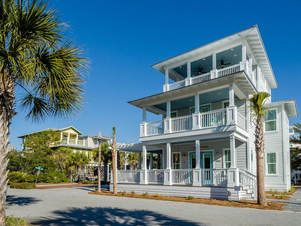 New Beach House In Seacrest Steps To And Pool Near Rosemary
