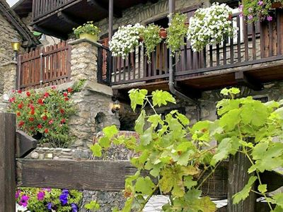 Photo for Charming chalet with private sauna, in historic town nearby Aosta
