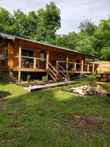 Photo for Newly Finished Log Cabin in our family retreat on Lake Hamilton No cleaning fee