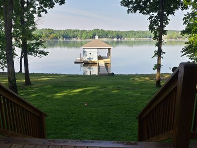 Photo for COOL BREEZE COTTAGE-FLAT WALK, NEW DOCK, KAYAKS, FIREPIT