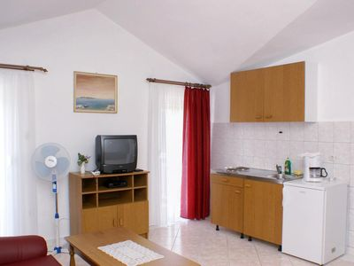 Photo for One bedroom apartment with balcony and sea view Rogoznica