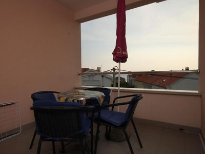 Photo for One bedroom apartment with terrace and sea view Novalja, Pag (A-6432-f)