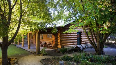 Photo for Tewksbury Lodge - Authentic Log Cabin