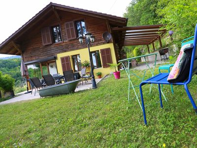 Photo for Spacious Chalet 4 * cocooning in the countryside, south facing garden, near Colmar