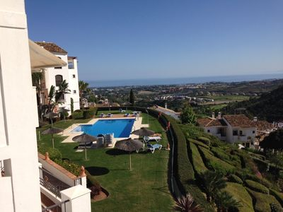 Photo for Magnificent sea view - Los Arqueros Golf near Puerto Banus